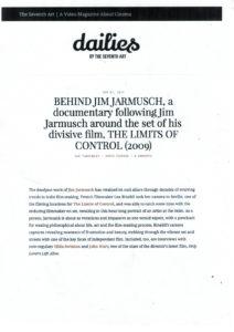 Behind Jim Jarmusch dans la Presse